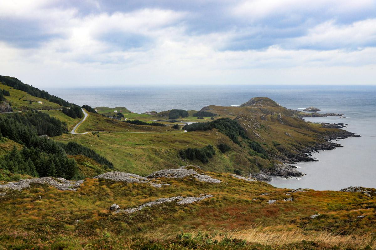 Vom Lovatnet auf die Insel Vågsøy
